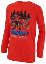 Carhartt Heather Fiery Red 'Hit the Trails' Tee - Boys