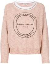 Sonia Rykiel tweed logo sweater