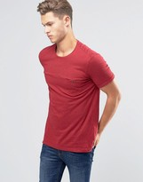 Benetton Button Pocket T-Shirt with Colored Fleck