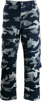 Valentino camouflage denim cargo trousers