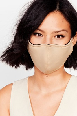 Nasty Gal Womens Let's Talk Fashion Face Mask - Beige - One Size