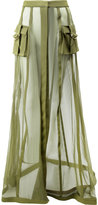 Balmain transparent military skirt - women - Silk/Polyurethane/Acetate/Viscose - 38