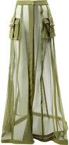 Balmain transparent military skirt