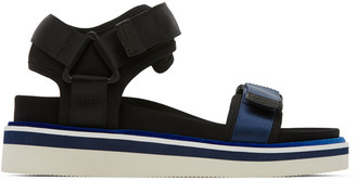 See by Chloe Black and Blue Sporty Sandals