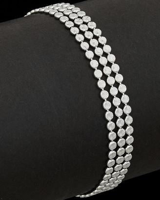 Italian Silver 3 Strand Link Bracelet