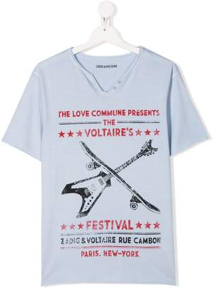Zadig & Voltaire Kids TEEN Festival print T-shirt