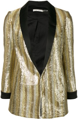 Alice + Olivia Embellished Fitted Blazer