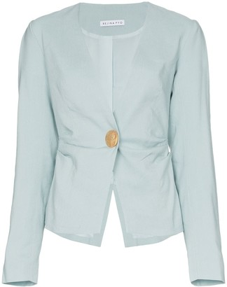 REJINA PYO Oversized Button Blazer Jacket