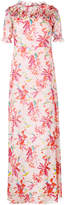 Giamba floral print long dress