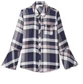 Two By Vince Camuto Plaid Bell-sleeve Shirt