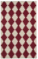 Tribeca Flatweave Red Wordly Wool Rug (8' x 10')