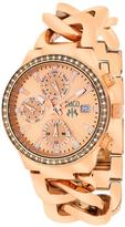 Jivago JV1247 Women's Lev Mini Stainless Steel Watch with Crystal Accents
