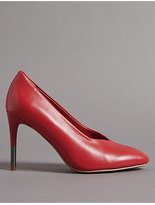 Autograph Leather Stiletto Heel Court Shoes