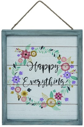 Transpac Wood Multicolor Easter Hello Spring Hanging Wall Decor