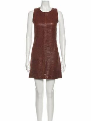Balenciaga 2011 Mini Dress Brown