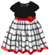 Nannette Sparkle Bodice Taffeta Dress