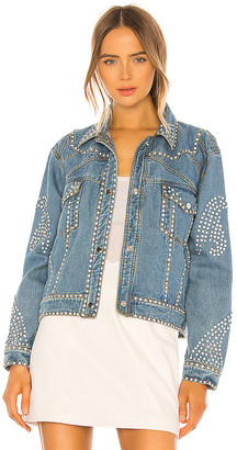 Understated Leather Electra Denim Rhinestone Jacket