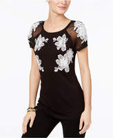 INC International Concepts Petite Embroidered Illusion Top, Only at Macy's