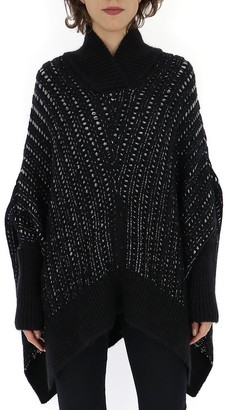 Saint Laurent Asymmetric Hem Knitted Cape