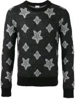 Saint Laurent star print knitted sweater