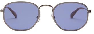 Givenchy Hexagonal Metal Sunglasses - Navy