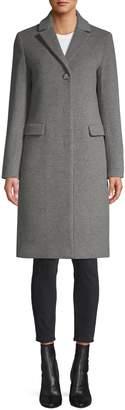 Cinzia Rocca Notch-Collar Wool-Blend Coat