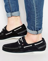 Tommy Hilfiger Suede Boat Shoes