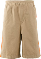 MSGM side-stripe shorts - men - Cotton/Spandex/Elastane - 44