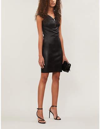 Jitrois Diva V-neck leather mini dress