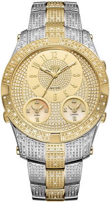 JBW Men's Jet Setter Iii Diamond & Crystal Watch