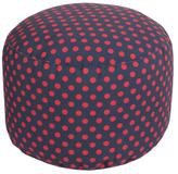 Surya Polka Dot Round Pouf