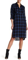 BLANKNYC Denim Plaid Collared Pocket Tunic