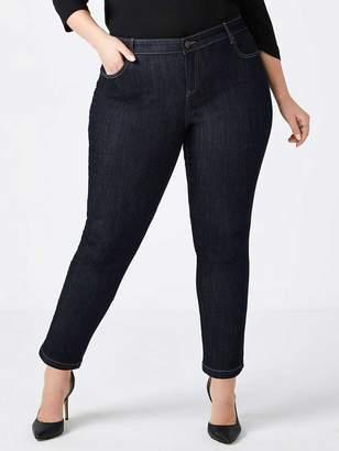 Petite Slightly Curvy Fit Straight Leg Jean - d/c JEANS