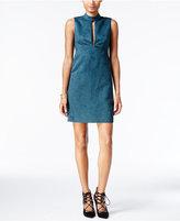 BCBGeneration Cutout Faux-Suede A-Line Dress