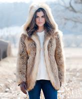 Gold Fox Faux Fur Hooded Coat - Plus Too