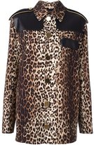 Givenchy leopard print grain de poudre jacket - women - Calf Leather/Spandex/Elastane/Viscose/Wool - 36
