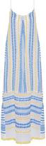 Lemlem Tabtab Cotton-blend Gauze Maxi Dress - Light blue