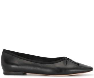 Loeffler Randall Bow-Detail Leather Ballerina Shoes