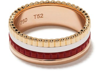 Boucheron 18kt yellow, rose and white gold Quatre Red Edition red ceramic wedding band