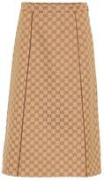 Gucci GG cotton-blend canvas skirt