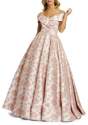Mac Duggal Floral Embroidered Ball Gown