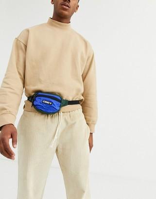 Obey Commuter waist pouch in blue