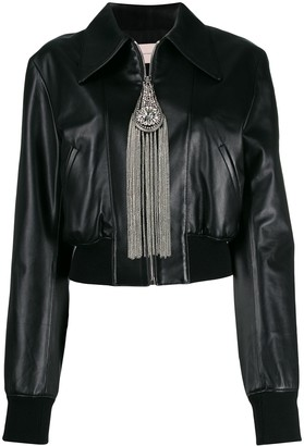 Christopher Kane Cropped Zip-Front Jacket