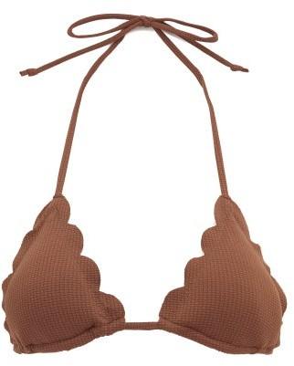 Marysia Swim Broadway Scalloped Bikini Top - Dark Brown