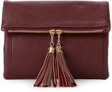Urban Expressions Burgundy Tulip Tasseled Chain Crossbody