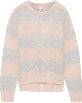 Iris & Ink Laurina Striped Open-knit Mohair-blend Sweater