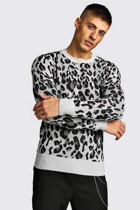 boohoo Animal Print Knitted Jumper