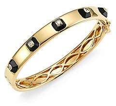 Maria Canale Pyramide 18K Yellow Gold, Diamond & Onyx Stackable Hinged Bangle