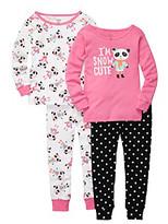 Carter's Girls' 12M-7 Pink 4-pc. I'm Snow Cute Panda Pajama Set