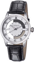 Stuhrling Original Original Mens Leather Strap Semi-Transparent Dial Watch